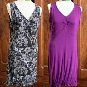 Dresses & Skirts - Athleisure Reversible Dress Purple Black Gray
